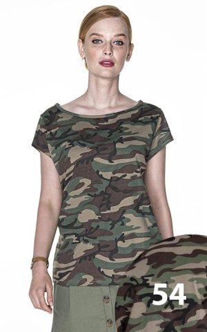T-shirt Camo Lady